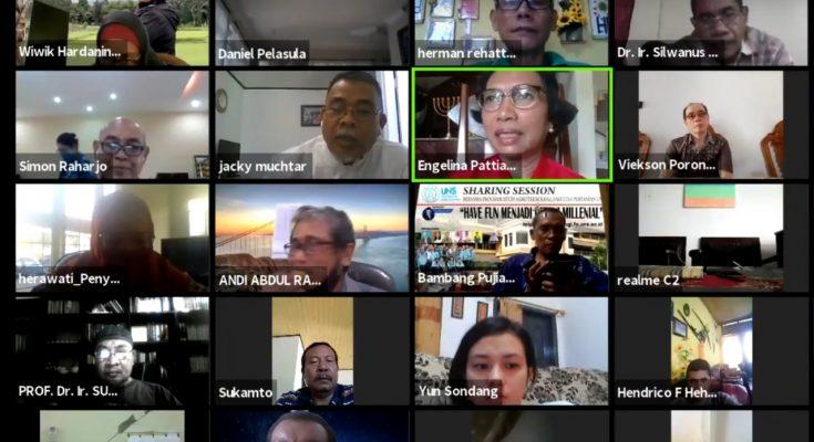Suasana webinar yang digelar Peragi Maluku, Selasa (30/6/2020). (Ist)